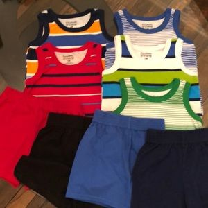 9 Piece 12 Month Boys Tank&Short Garanimals Bundle